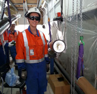 Photo of a graduate on site